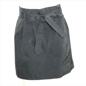 Theory Skirt Pleated Cinched Belted Waist